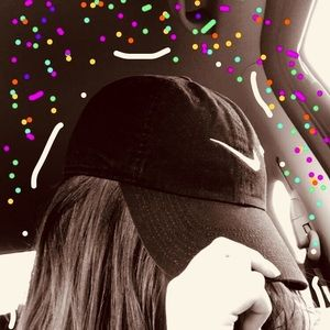 A black and white Nike hat
